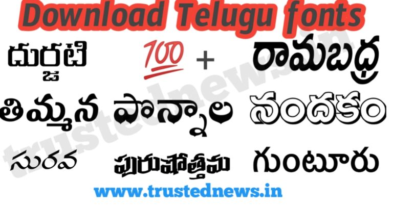 download all telugu fonts for free
