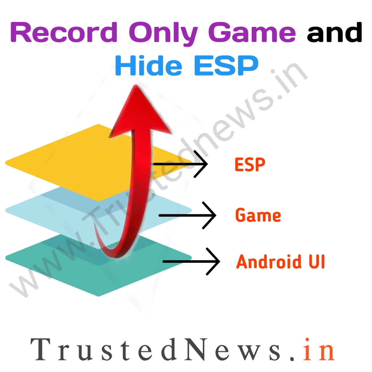 Hide esp from screen recording while game playing